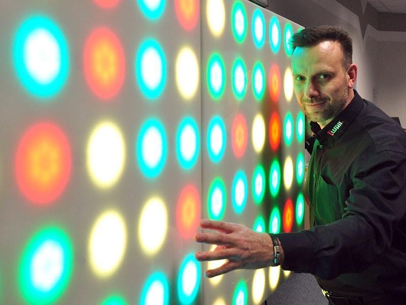 High Tech: gestickte Sensoren für Lichtanwendungen