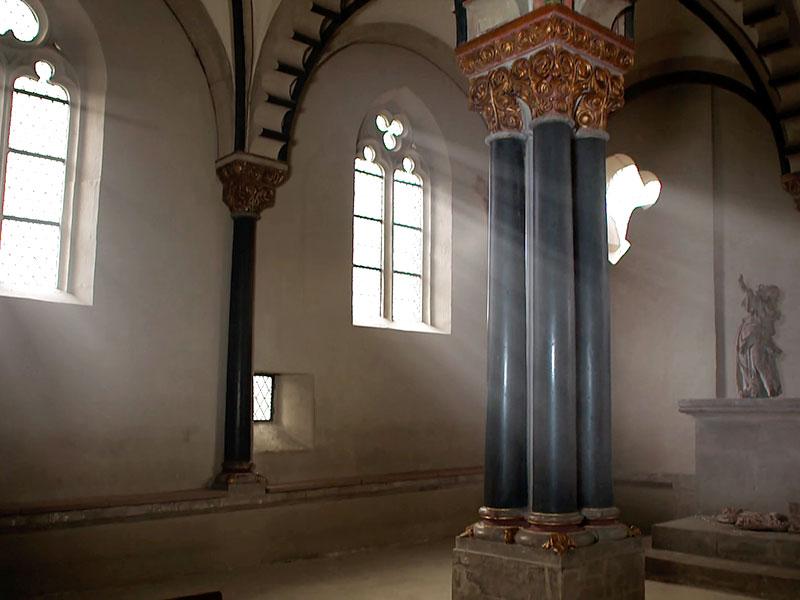 Architektonische Seltenheit: die Doppelkapelle in der Neuenburg
