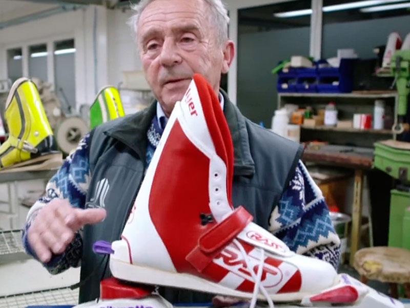 Volkmar Rass ist sein Leben lang Erfinder und Sprungschuhhersteller, alle Topathleten kaufen hier ein